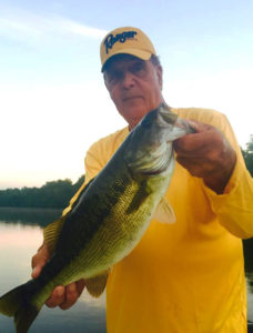 Photo of Capt. Gus with a Lake Norman Spotted Bass