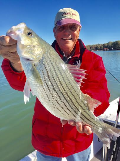Fishing Report: Hybrid Striped Bass Fishing, October 4, 2017